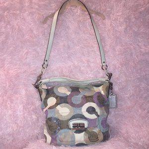 Coach Kristin Graphic Sequin Embellished Hobo Bag